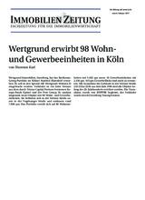 Download PDF: Wertgrund erwirbt 98 Wohn- und Gewerbeeinheiten in Köln