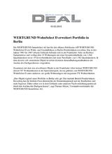 Download PDF: WERTGRUND WohnSelect D erweitert Portfolio in Berlin