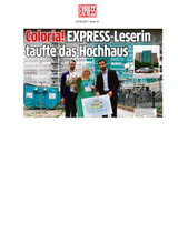 """Download PDF: Coloria! EXPRESS-Leserin taufte das Hochhaus. Ab sofort ist das berüchtigte """"West-Center"""" Geschichte"""