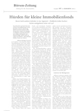 Download PDF: Hürden für kleine Immobilienfonds
