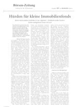 Download PDF: Hürden für kleine Immobilienfonds