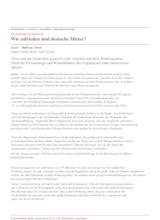 Download PDF: ALLENSBACH-UMFRAGE: Wie zufrieden sind deutsche Mieter?