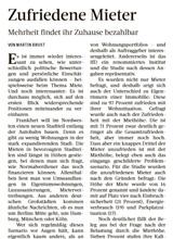 Download PDF: Zufriedene Mieter – Mehrheit findet ihr Zuhause bezahlbar
