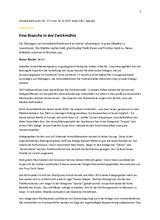 """Download PDF: """"Eine Branche in der Zwickmühle"""""""