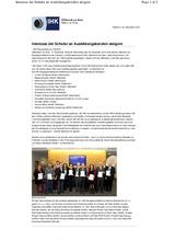 Download PDF: IHK verleiht WERTGRUND als Ausbildungsbetrieb mit aktuell 5 Auszubildenden eine Ehrenurkunde