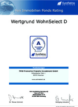 Download PDF: Der offene Immobilienfonds WERTGRUND WohnSelect D von FERI-Rating mit A (sehr gut) bewertet