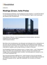 Download PDF: Niedrige Zinsen, hohe Preise.
