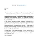 """Download PDF: """"Wertgrund Wohnselect D"""" dominiert Performance offener Fonds"""