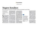 Download PDF: Magere Renditen – Eine Analyse des DIW zeigt: Privatanleger erzielen mit Immobilien kaum Erträge.