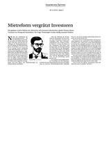 Download PDF: Mietreform vergrätzt Investoren