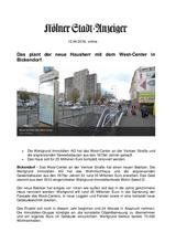 Download PDF: Das plant der neue Hausherr mit dem West-Center in Bickendorf