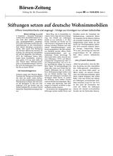 Download PDF: Stiftungen setzen auf deutsche Wohnimmobilien