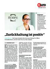 """Download PDF: """"Zurückhaltung ist positiv"""" Sonja Knorr » Die Scope-Analystin über die neuen Ratings für Offene Immobilienfonds und den hohen Druck auf die Anbieter"""