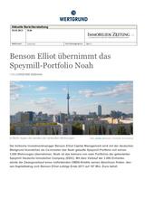 """Download PDF: Benson Elliot und WERTGRUND Immobilien – Übernahme Speymills """"Noah""""…"""