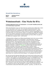 Download PDF: Wohnimmofonds – Eine Nische für IFAs